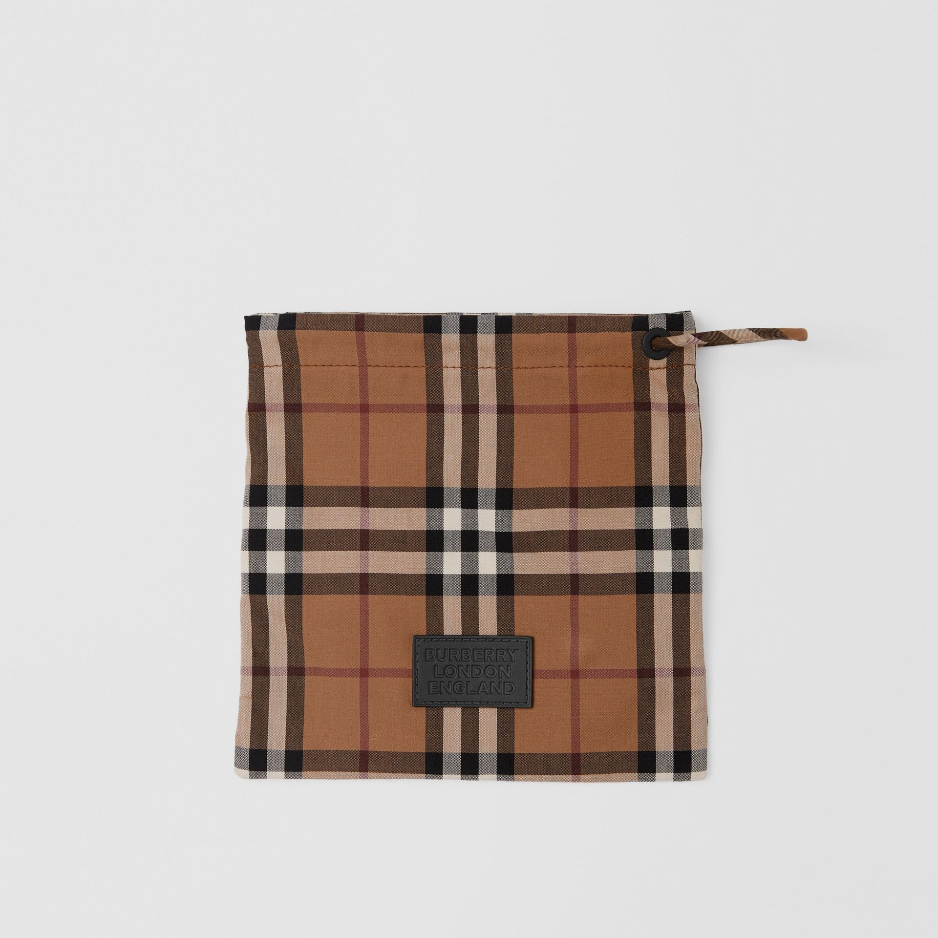 Vintage Check Cotton Face Mask in Birch Brown | Burberry United Kingdom - gallery image 1