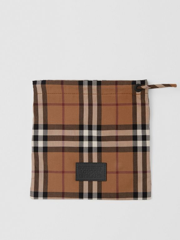 Vintage Check Cotton Face Mask in Birch Brown | Burberry United Kingdom - cell image 1