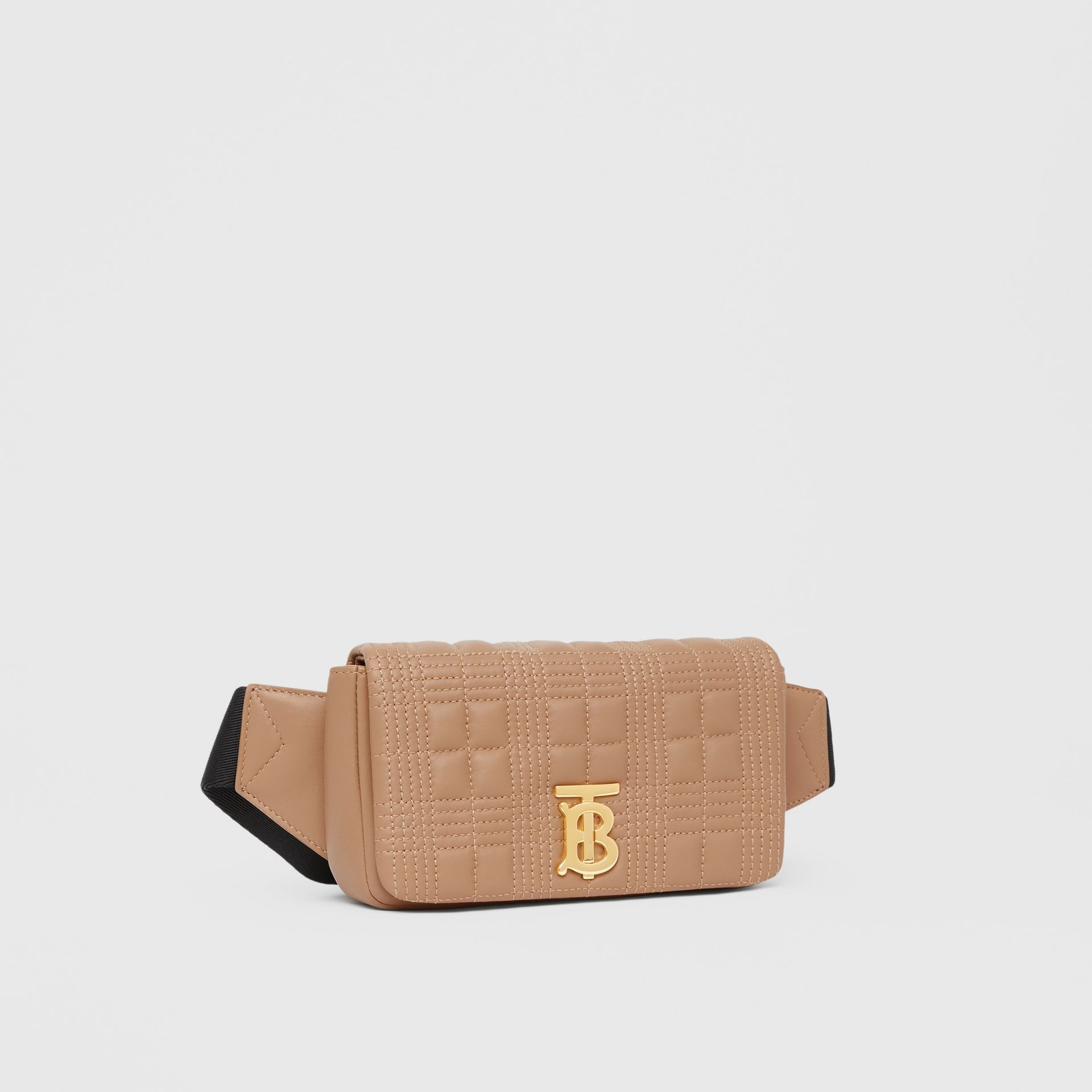 Quilted Lambskin Lola Bum Bag in Camel | Burberry - gallery image 8