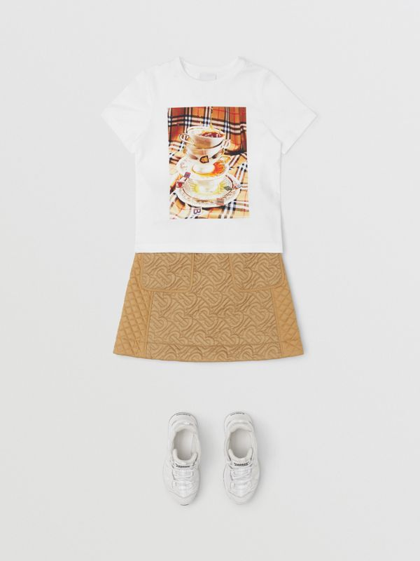 Teacup Print T-shirt in Multicolour | Burberry Canada - cell image 2