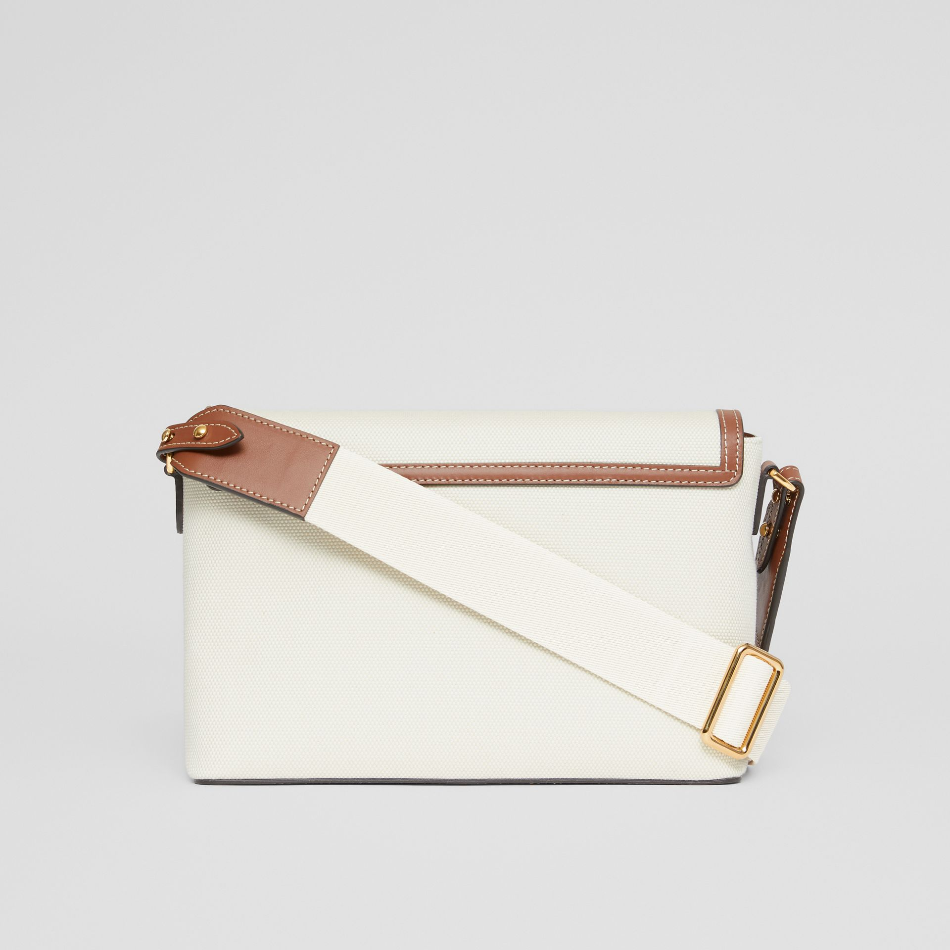 Horseferry Print Canvas Note Crossbody Bag in Natural/tan - Women | Burberry - gallery image 7