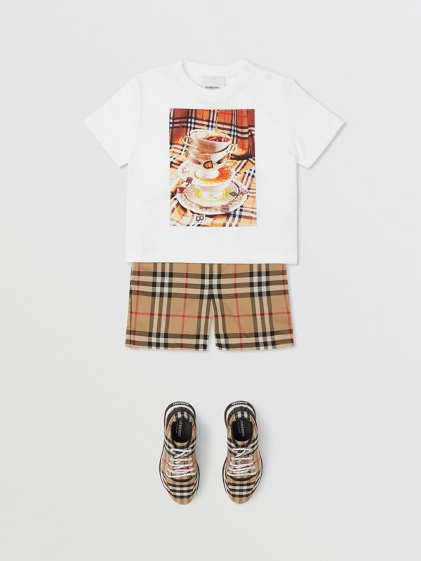 Teacup Print T-shirt in Multicolour - Children | Burberry - cell image 3