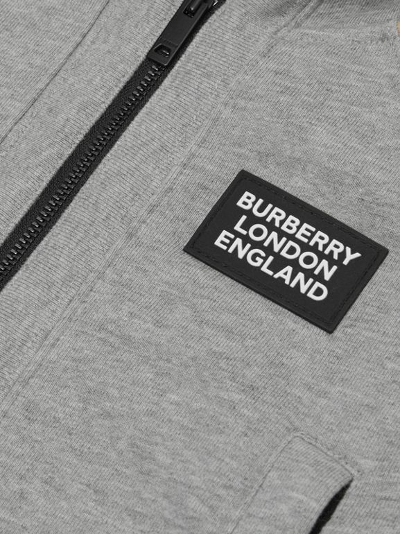 Icon Stripe Panel Cotton Hooded Top - Children | Burberry United Kingdom - cell image 1