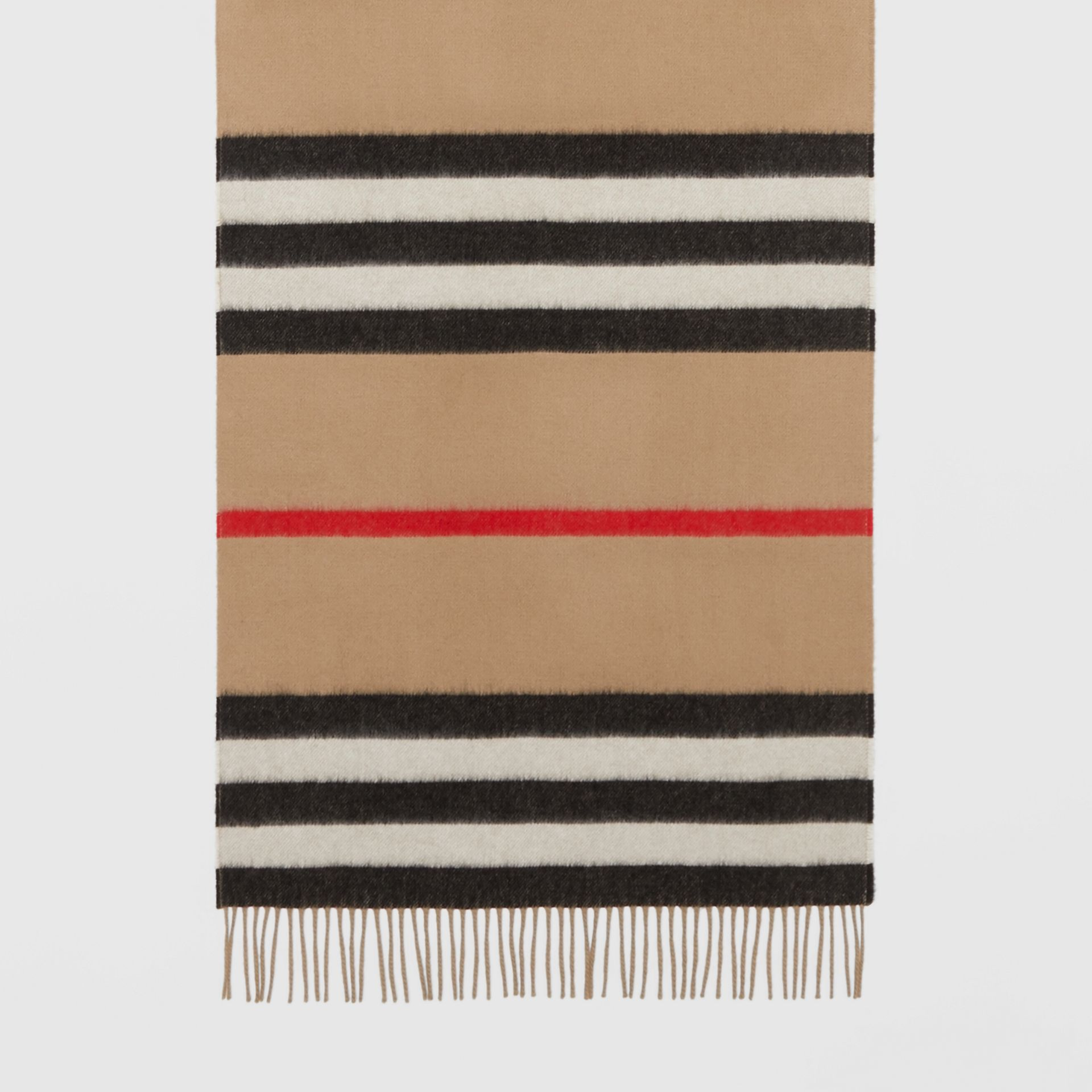 Icon Stripe Cashmere Jacquard Scarf in Archive Beige | Burberry - gallery image 4