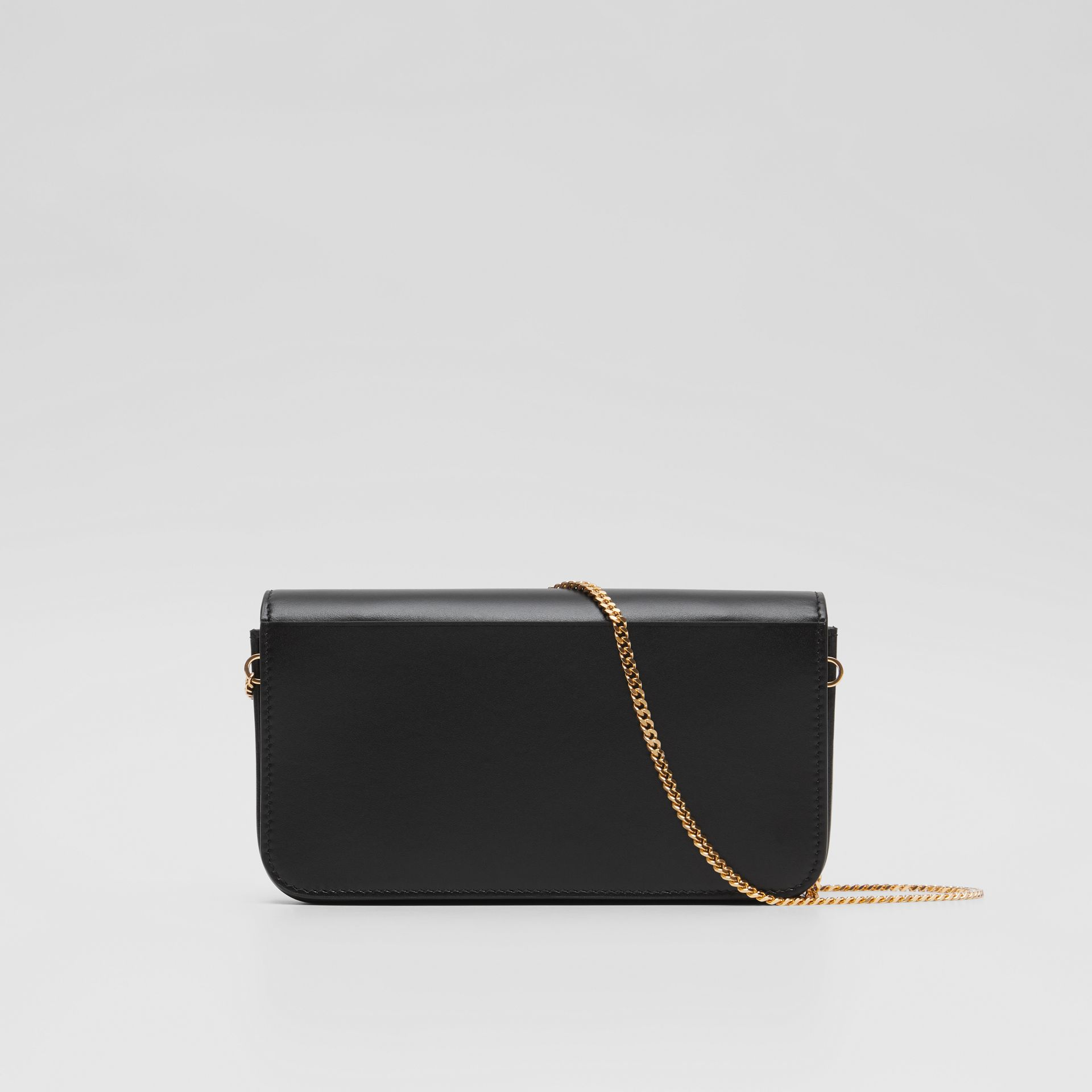 Leather Wallet with Detachable Chain Strap   Burberry United Kingdom - gallery image 4