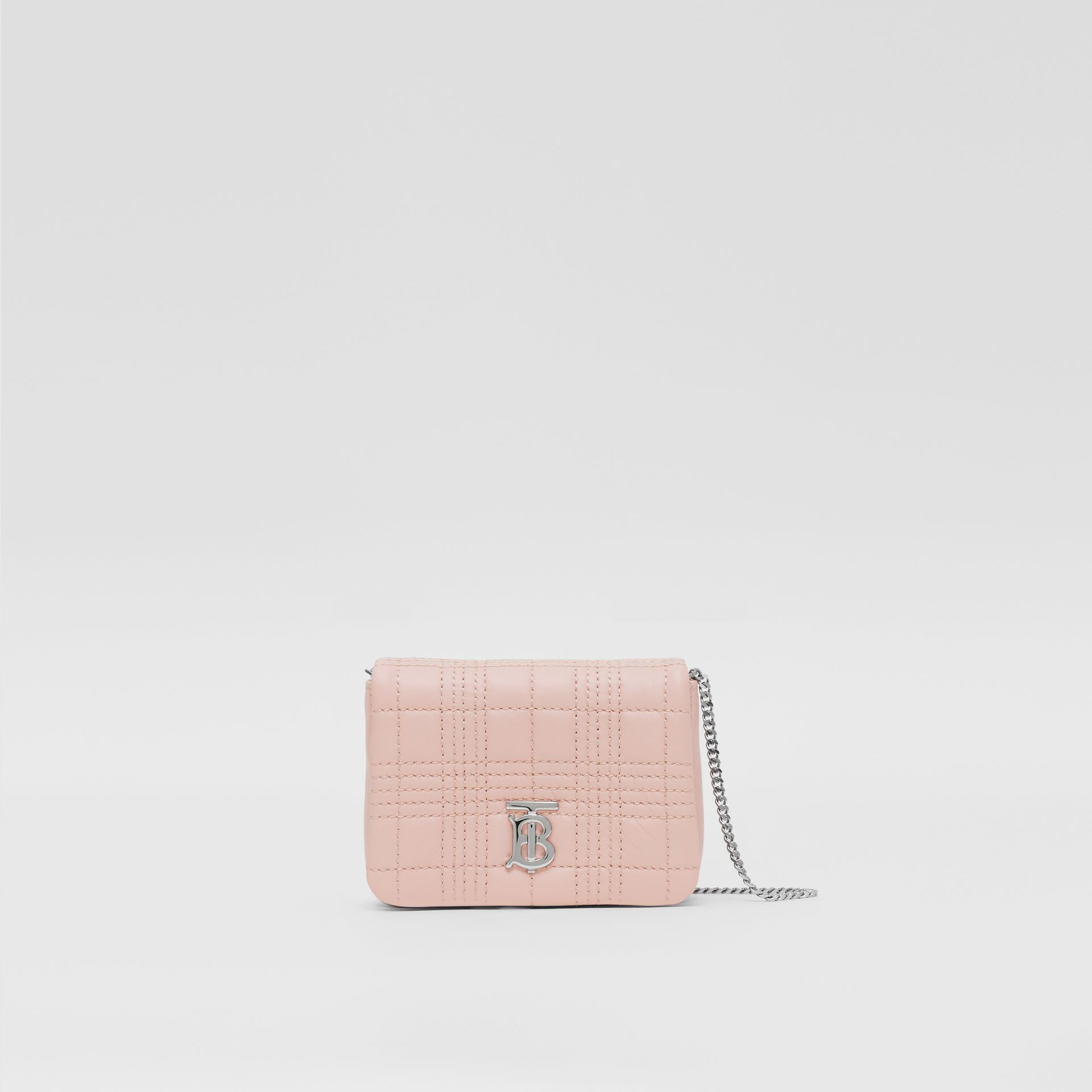 Micro Quilted Lambskin Lola Bag in Blush Pink - Women | Burberry United Kingdom - gallery image 0