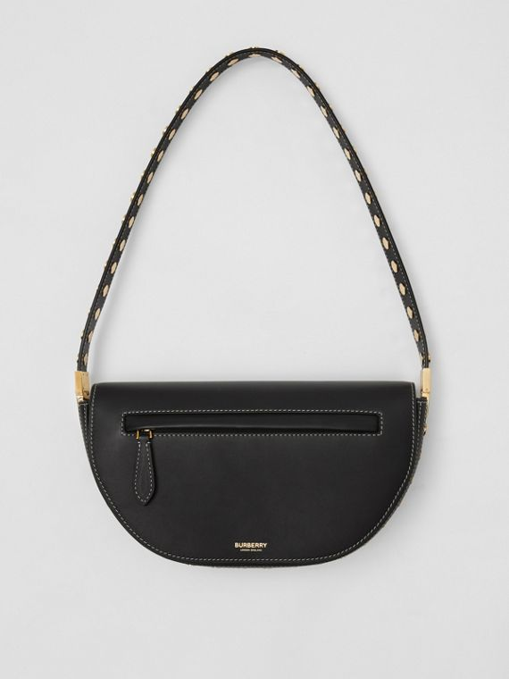 Small Leather Olympia Bag in Black