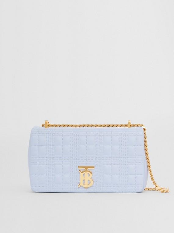 """Kleine Handtasche """"Lola"""" aus gestepptem Lammleder (Hellblau)"""