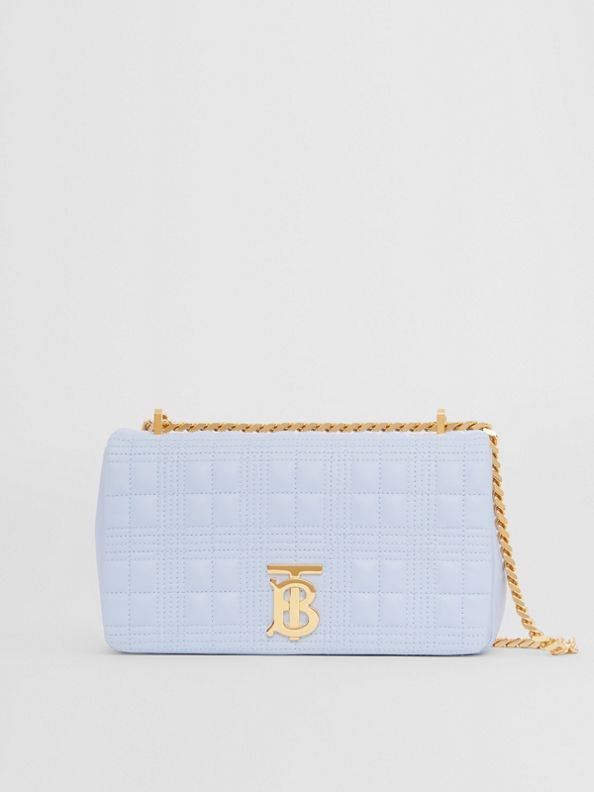 Small Quilted Lambskin Lola Bag in Pale Blue