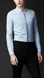 Linen Cotton Skinny Fit Shirt