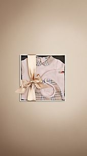 Check Collar Bodysuit Baby Gift Set