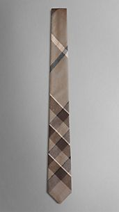 Textured Silk Check Tie