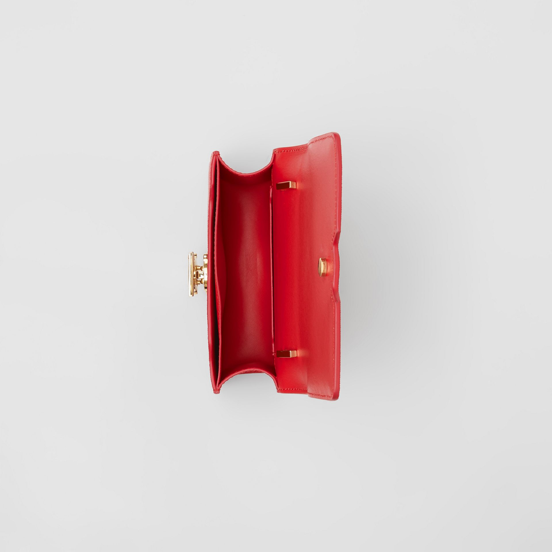 Mini Grainy Leather TB Bag in Bright Red - Women | Burberry Canada - gallery image 4