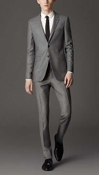 Travel Tailoring Wool Flannel Suit