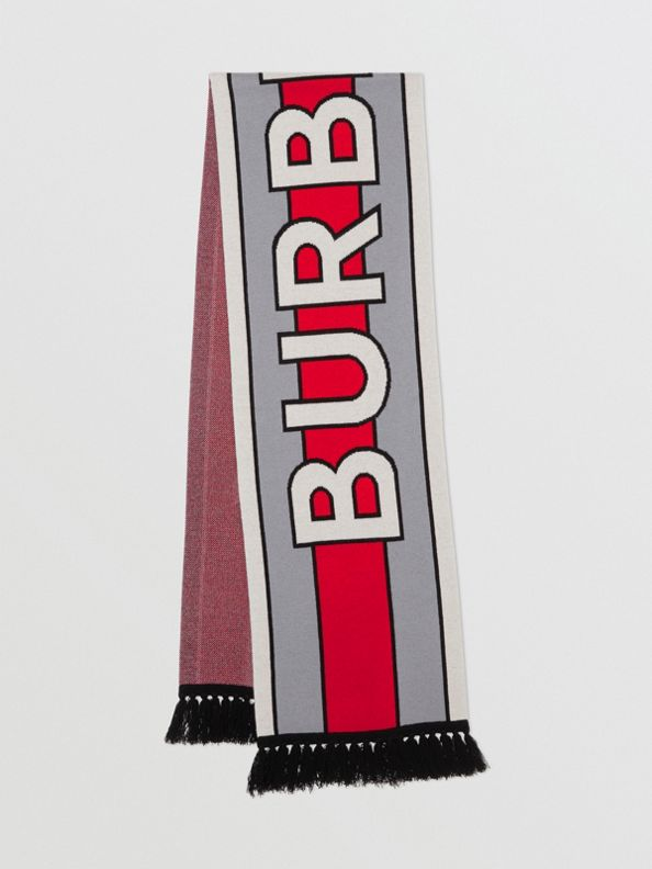 Шарф из кашемира с логотипом Burberry (Стальной Серый)