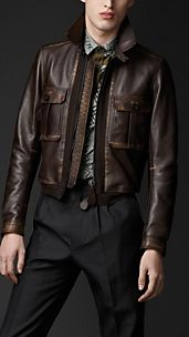 Aged Leather Bomber