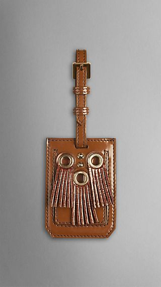 Fringed Eyelet Luggage Tag