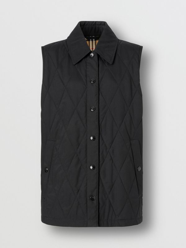 Diamond Quilted Gilet in Black   Burberry United Kingdom - cell image 3
