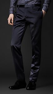 Skinny Fit Dress Trousers