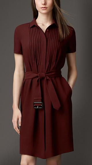Silk Georgette Shirt Dress