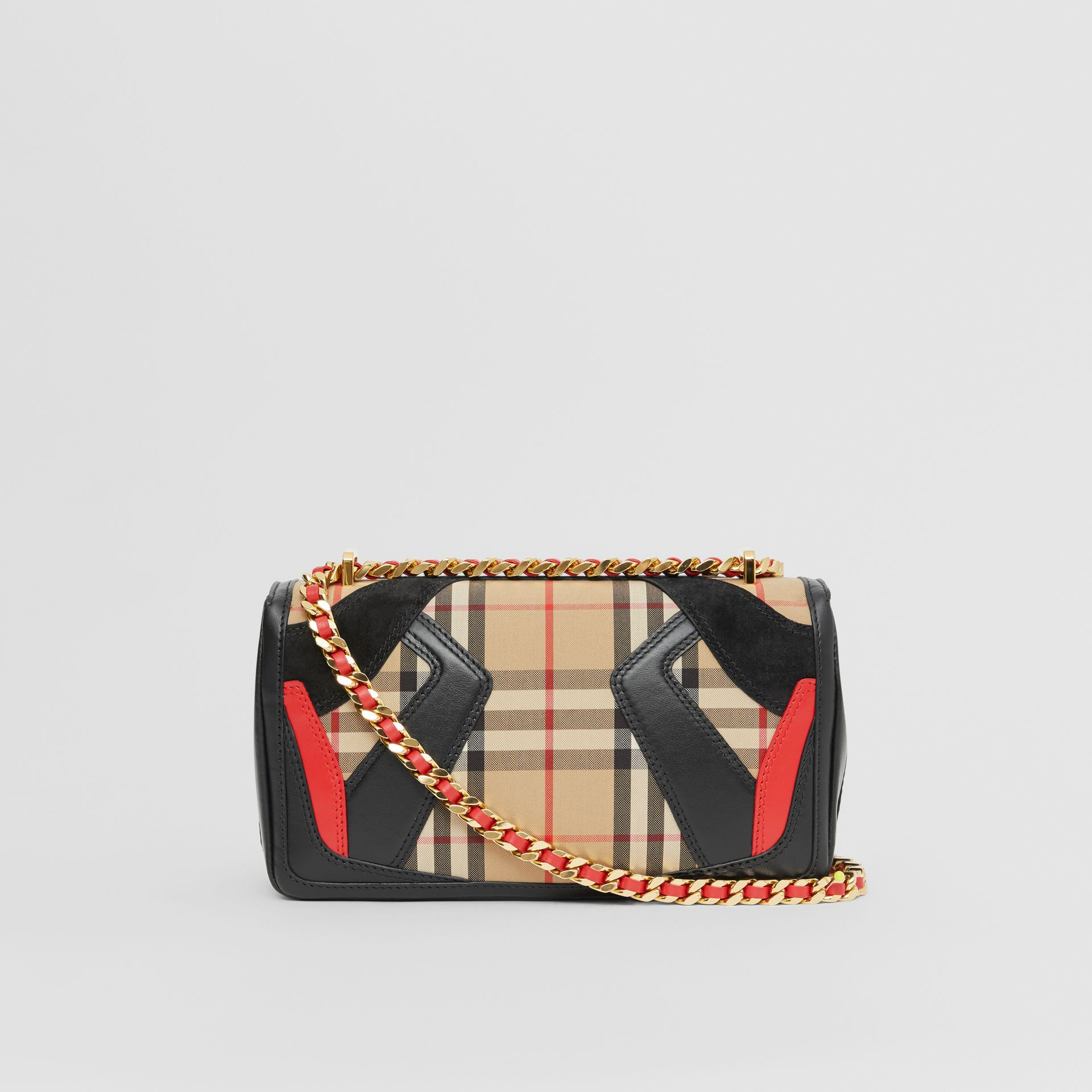 Small Appliqué Vintage Check Lola Bag in Archive Beige - Women | Burberry Australia - gallery image 7