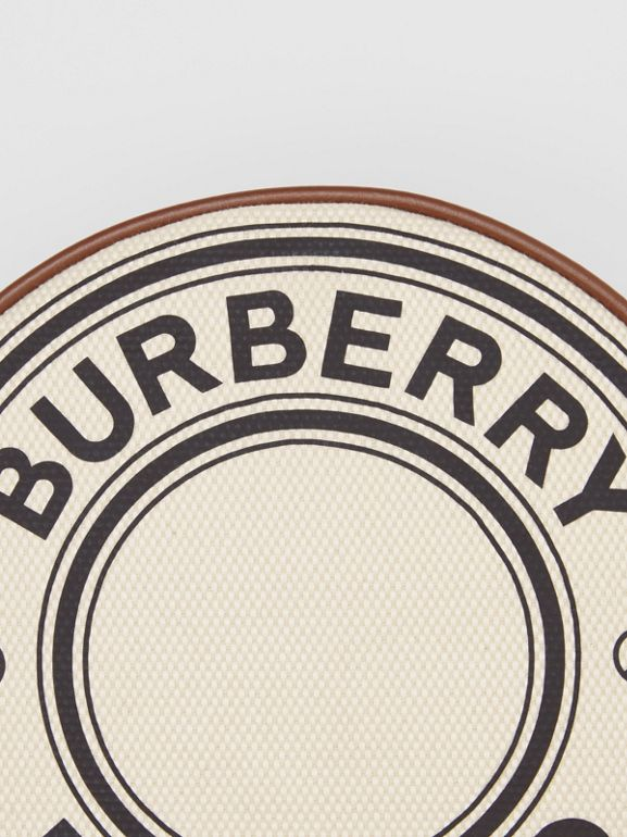 Logo Graphic Canvas and Leather Louise Bag in Natural - Women | Burberry - cell image 1