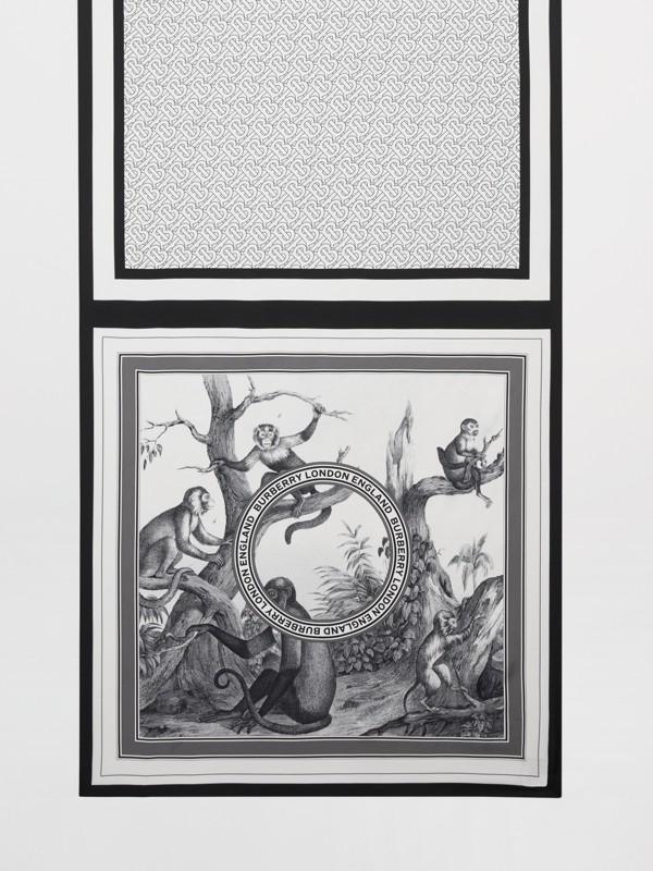 Foulard en soie à imprimé montage (Monochrome) | Burberry - cell image 3