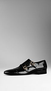 Polished Leather Monk Shoes