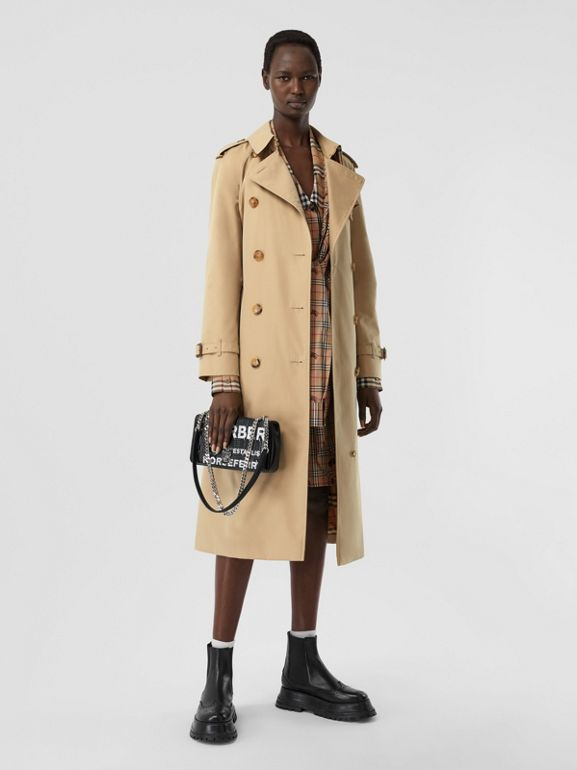 The Long Waterloo Heritage Trench Coat in Honey | Burberry - cell image 1
