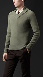 Open-Stitch Cashmere Sweater