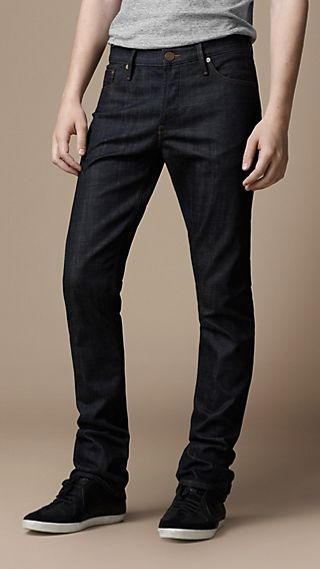 Swaine Resinated Tapered Fit Jeans