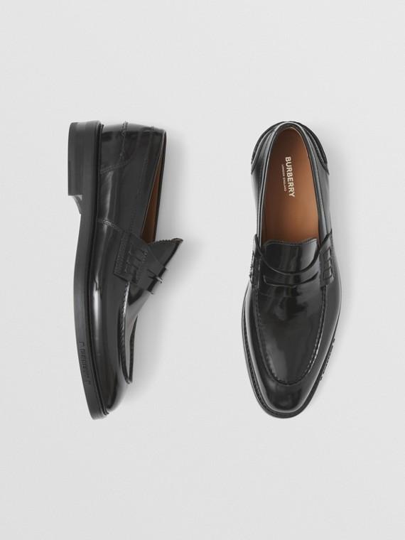 Mocassini penny loafer in pelle (Nero)