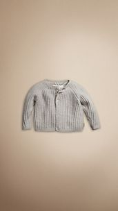 Ribbed Cashmere Cotton Cardigan