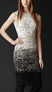 Abstract Animal Print Dress