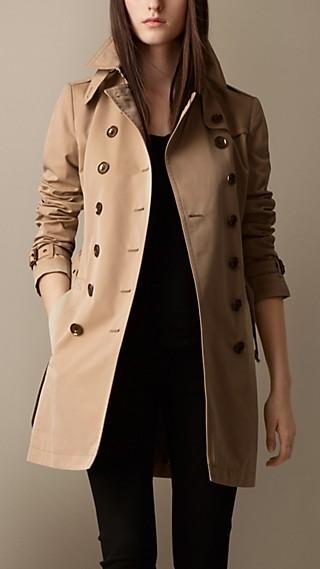 Cotton Poplin Trench Coat
