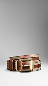 Bridle House Check Belt