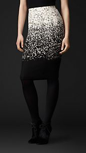 Abstract Animal Print Pencil Skirt