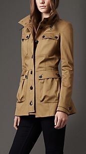 Leather Detail Field Jacket