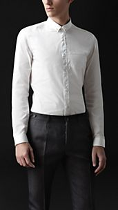 Skinny Fit Collar Pin Shirt