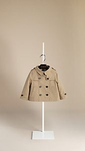 Cotton Poplin A-Line Trench Coat