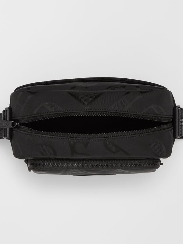 Monogram Recycled Polyester Crossbody Bag in Black - Men   Burberry United Kingdom - cell image 3