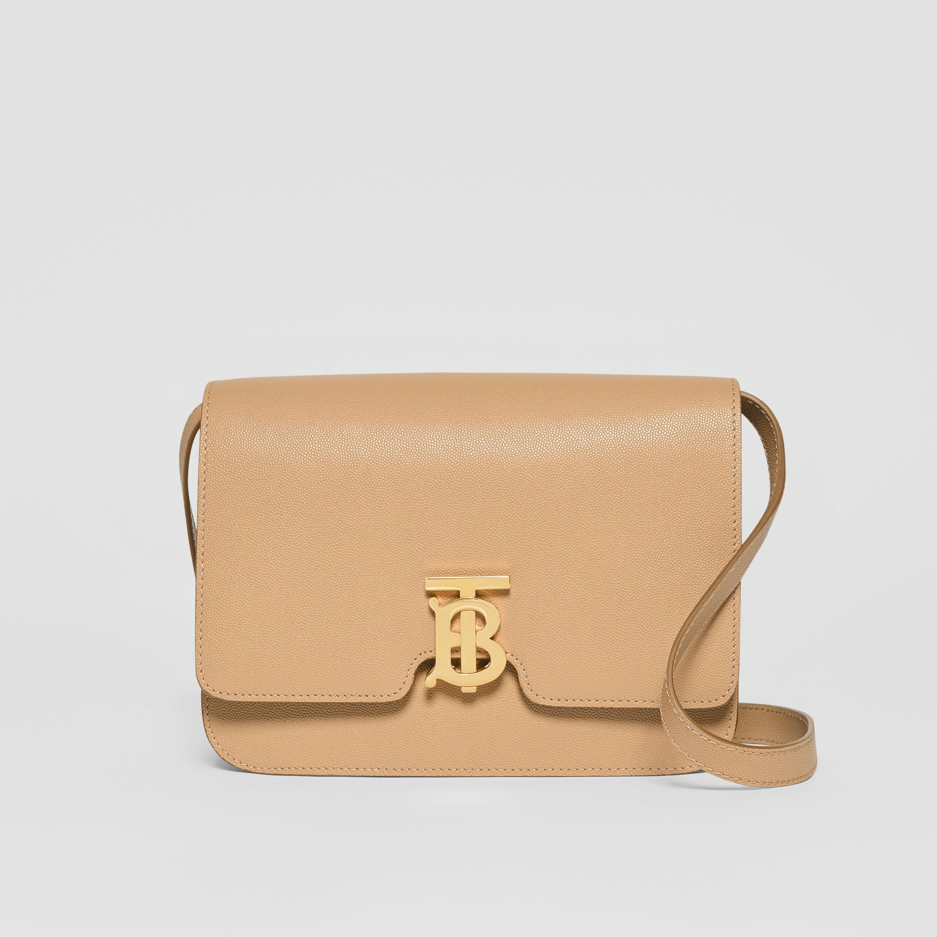 Medium Grainy Leather TB Bag in Archive Beige - Women | Burberry Canada - gallery image 0