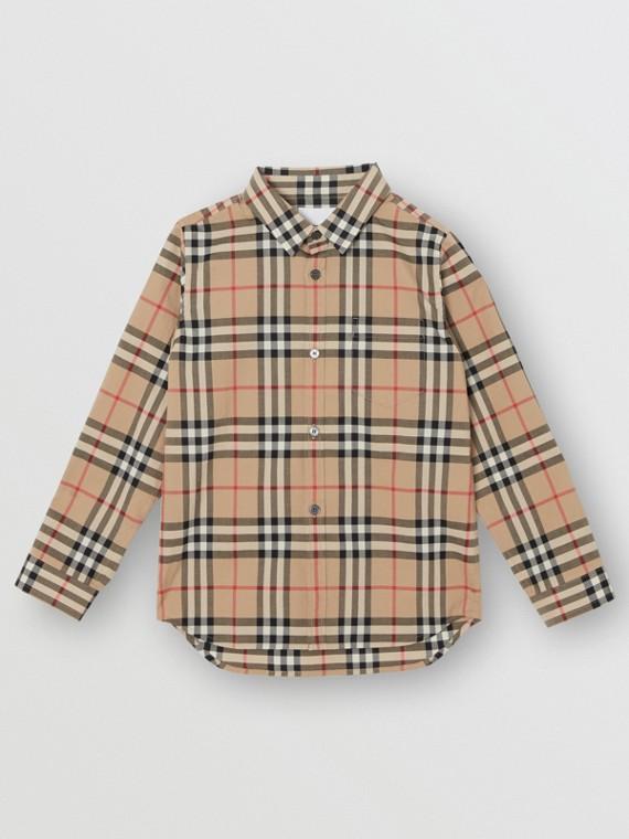 Vintage Check Cotton Poplin Shirt in Archive Beige