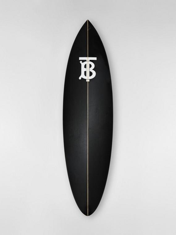 Tabla de surf con motivo de monograma (Grafito)
