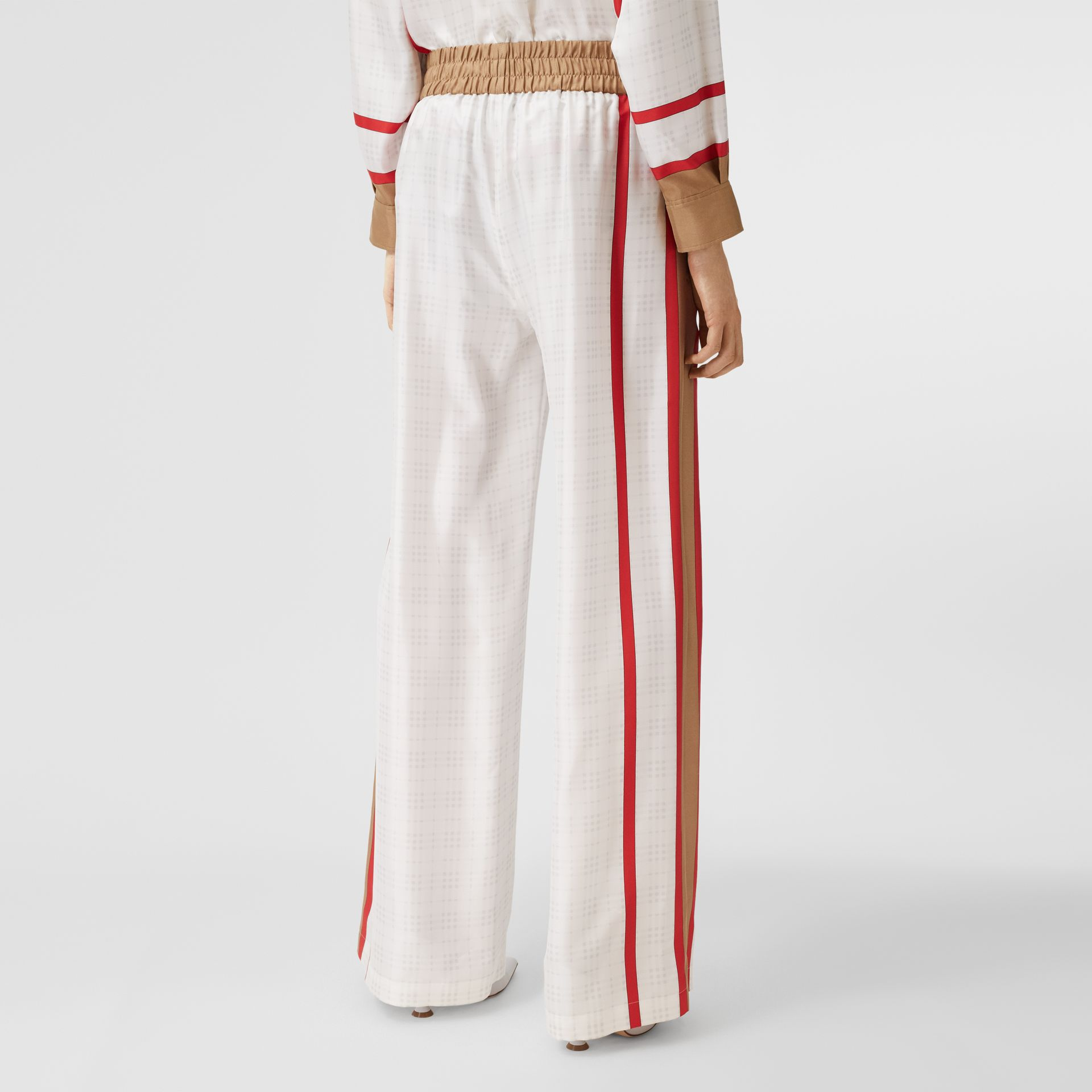Archive Scarf Print Silk Wide-leg Trousers in Honey - Women | Burberry United Kingdom - gallery image 2