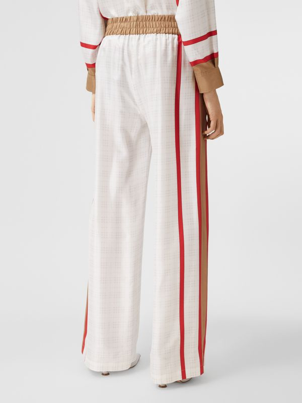 Archive Scarf Print Silk Wide-leg Trousers in Honey - Women | Burberry United Kingdom - cell image 2