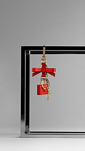 London Leather Padlock Charm