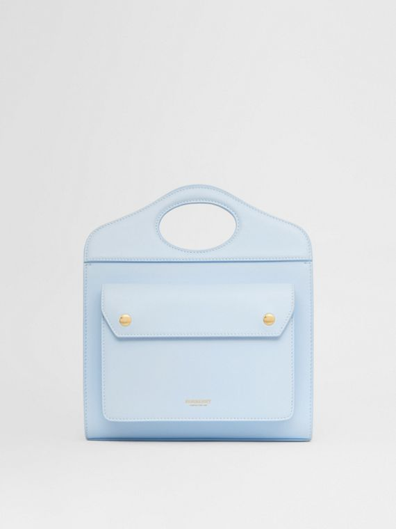 Borsa Pocket mini in pelle (Blu Pallido)