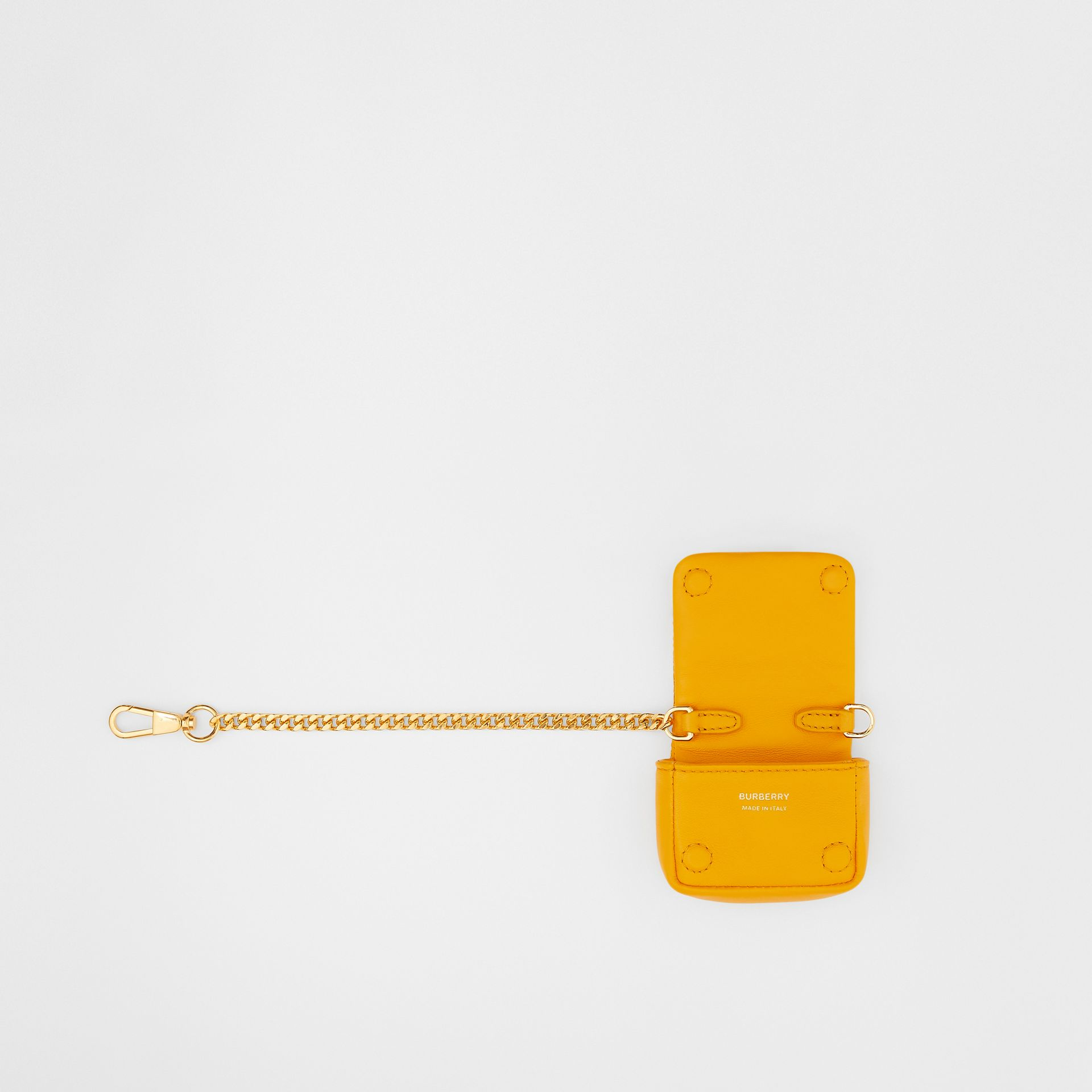 Quilted Lambskin AirPods Pro Case in Citrus Orange - Women | Burberry - gallery image 2