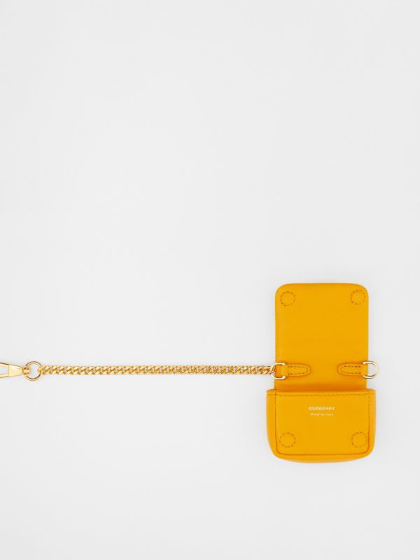 Quilted Lambskin AirPods Pro Case in Citrus Orange - Women | Burberry Australia - cell image 2